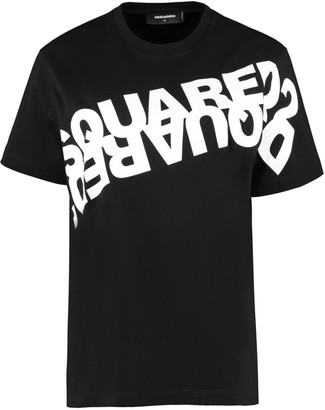 DSQUARED2 Printed Short Sleeve Cotton T-shirt