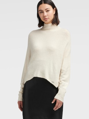 DKNY Mock-neck Sweater With Step Hem