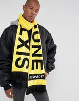 Sixth June Oversized Statement Scarf In Yellow