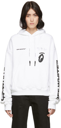 Off-White White Splitted Arrows Over Hoodie