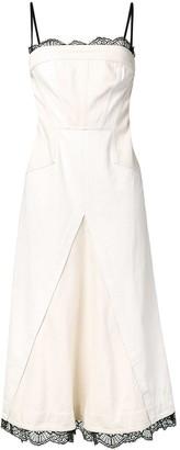 Alexander McQueen Scalloped Lace Denim Dress