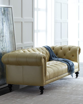 Old Hickory Tannery Morgan Sunshine Chesterfield Leather Sofa