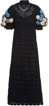 Miu Miu openwork crochet midi-dress