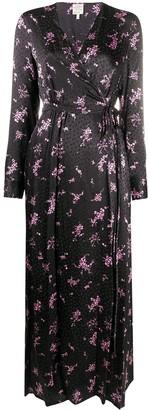 Baum und Pferdgarten Floral Print Wrap Dress