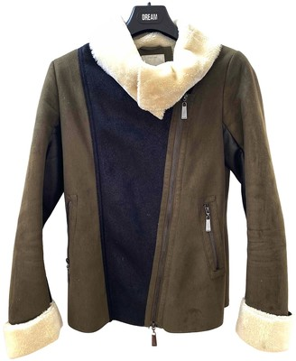 Pinko Green Faux fur Coat for Women