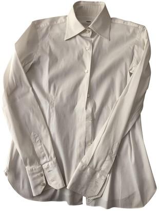 Barba White Cotton Top for Women