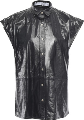 IRO Hally Textured-leather Shirt