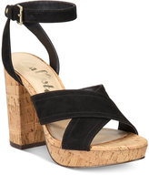 Callisto Wallis Crisscross Block-Heel Dress Sandals
