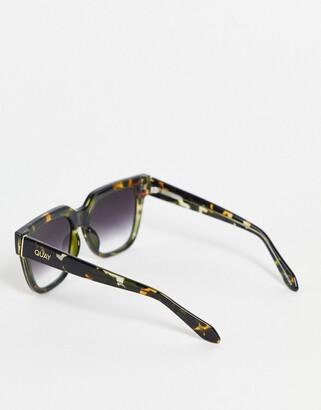 Quay PSA unisex square sunglasses in camo