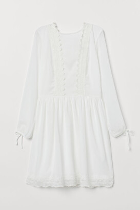 H&M Chiffon Dress - White