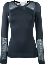 adidas by Stella McCartney seamless mesh top - women - Polyamide/Spandex/Elastane - XS