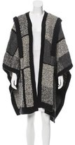 Yigal Azrouel Heavy Patchwork Wool Cape
