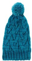 Makie Girls' Pom-Pom Knit Beanie