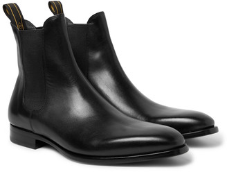 Dunhill Burnished-leather Chelsea Boots - Black