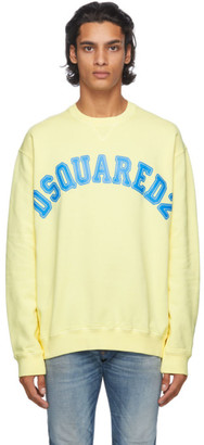 DSQUARED2 Yellow Logo Sweatshirt