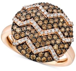 LeVian Le Vian Chocolatier Diamond Zigzag Ring (9/10 ct. t.w.) in 14k Rose Gold