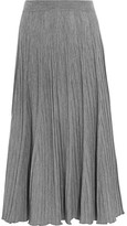 Chloé Ribbed Wool-jersey Maxi Skirt - Gray