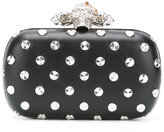 Alexander McQueen Piercing Skull box clutch - women - Leather - One Size