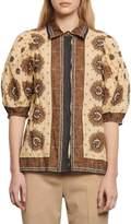 Sandro Sahari Printed Cotton-Blend Shirt