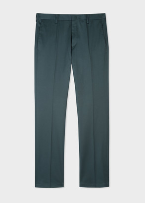 Men's Slim-Fit Petrol Stretch-Cotton Chinos