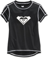 Roxy Core Short-Sleeve Rashguard, Big Girls (7-16)