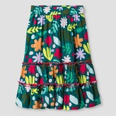 Cat & Jack Toddler Girls' Maxi Skirt Cat & Jack - Green Floral