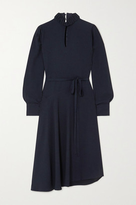 Officine Generale Solange Asymmetric Crepe Dress - Navy