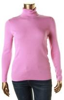 Lauren Ralph Lauren Womens Plus Ribbed Long Sleeves Turtleneck Sweater