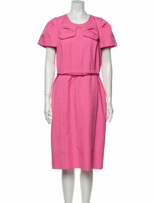 Marc Jacobs Crew Neck Midi Length Dress w/ Tags Pink