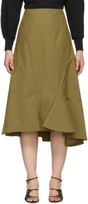 3.1 Phillip Lim Tan Ruffle Hem Skirt