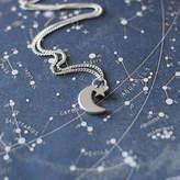 JuJu Treasures Tiny Crescent Moon And Star Necklace