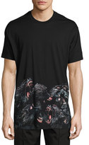 Givenchy Columbian-Fit Monkeys Printed-Hem T-Shirt, Black