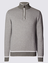 Blue Harbour Pure Cotton Textured Jumper