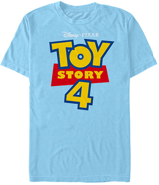 Fifth Sun Tee Shirts LT - Toy Story 4 Light Blue Full Color Logo Tee - Adult