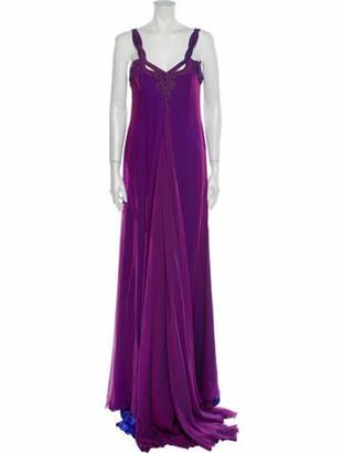 Versace Vintage Long Dress Purple