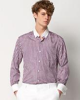 LOVA French-Cuffed Plaid Shirt