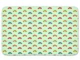 uneekee Cartoon Cars Bathroom Rugs: Incrediby Soft Memory Foam Spa Quality