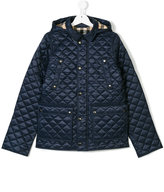 Burberry quilted hooded padded jacket