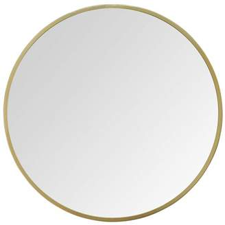 "Stratton Home Décor Stratton Home Decor 28"" Aubrey Gold Metal Wall Mirror"
