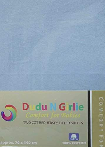 100 cm x 50 cm 2-Piece, Dudu N Girlie Cotton Jersey Mini Cot Fitted Sheets