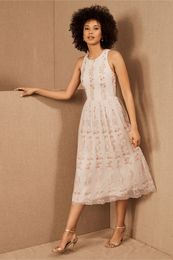 BHLDN Mireya Cap Sleeve Dress