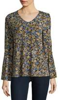 Chelsea & Theodore Floral Bell-Sleeve Top