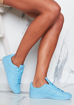 Missy Empire Matilda Blue Leather Trainers