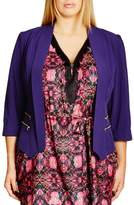 City Chic Plus Size Women's Double Zip Jacket