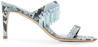 STAUD Raoule 90mm snakeskin-effect sandals