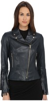 ZAC Zac Posen Willow Leather Fringe Jacket