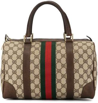 Gucci Pre-Owned Shelly Line GG Supreme Boston tote
