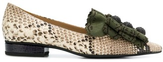 Rue St laser-cut loafers