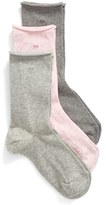 Calvin Klein Women's Roll Top Crew Socks