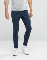 Asos Extreme Super Skinny Jeans In Dark Blue